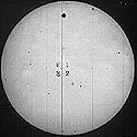black and white photograph of the 1882 Transit of Venus