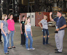 WLMR winners tour the Vehicle Assembly Building