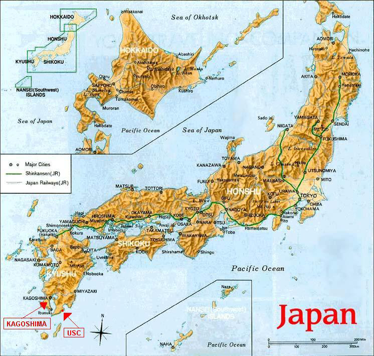 NASA Hinode Launch Site - Japan map center