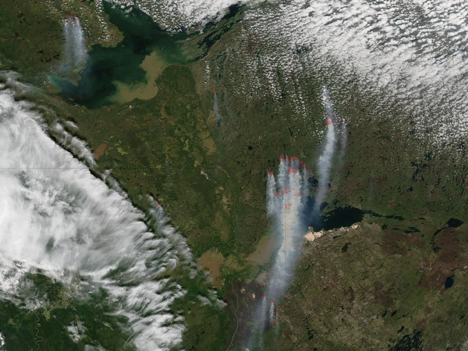 MODI image of fires in Canada