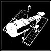 black and white drawing of the Hubble Space Telescope