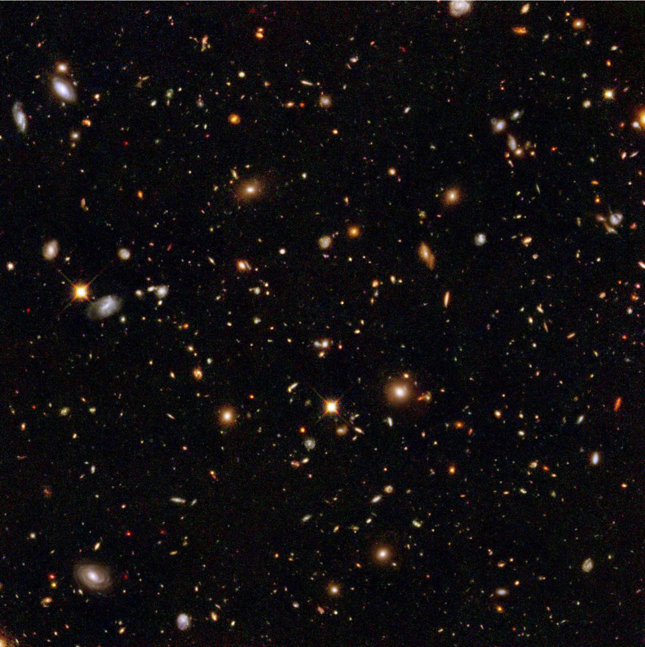 An estimated 10,000 galaxies are revealed in humankind's deepest portrait of the visible universe ever. Image and caption courtesy NASA/ESA/S. Beckwith(STScI) and The HUDF Team.