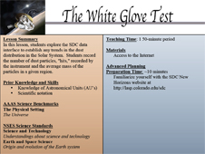 First page of The White Glove Test lesson
