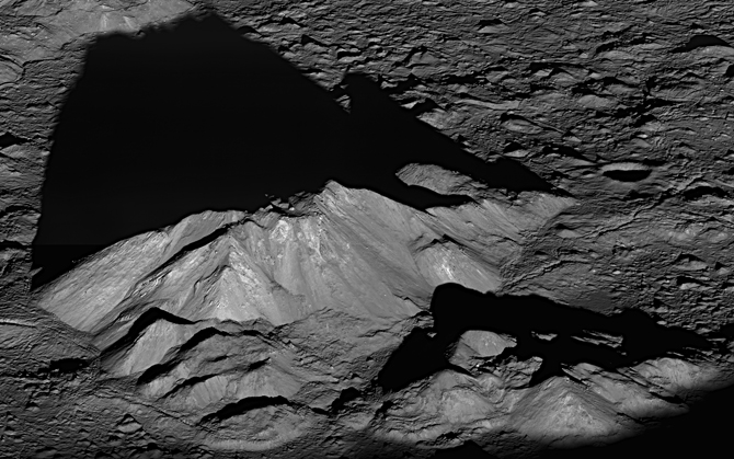 peak in Tycho Crater