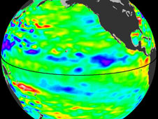 Data of sea surface heights from the NASA/European Ocean Surface Topography Mission/Jason-2 satellite
