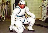 Future spacesuit with more flexibility.