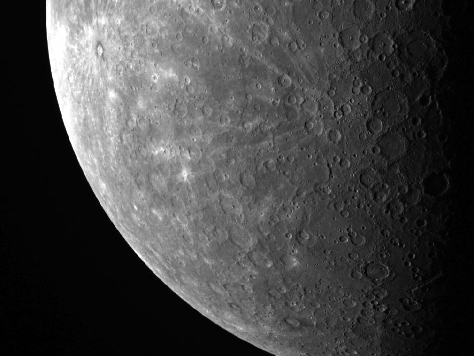Image from Orbit of Mercury: A Cratered Horizon