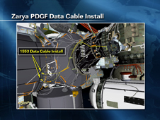 Zarya PDGF Data Cable Install
