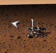 Screen capture of the M2K4 Drive the Mars Rovers! program.