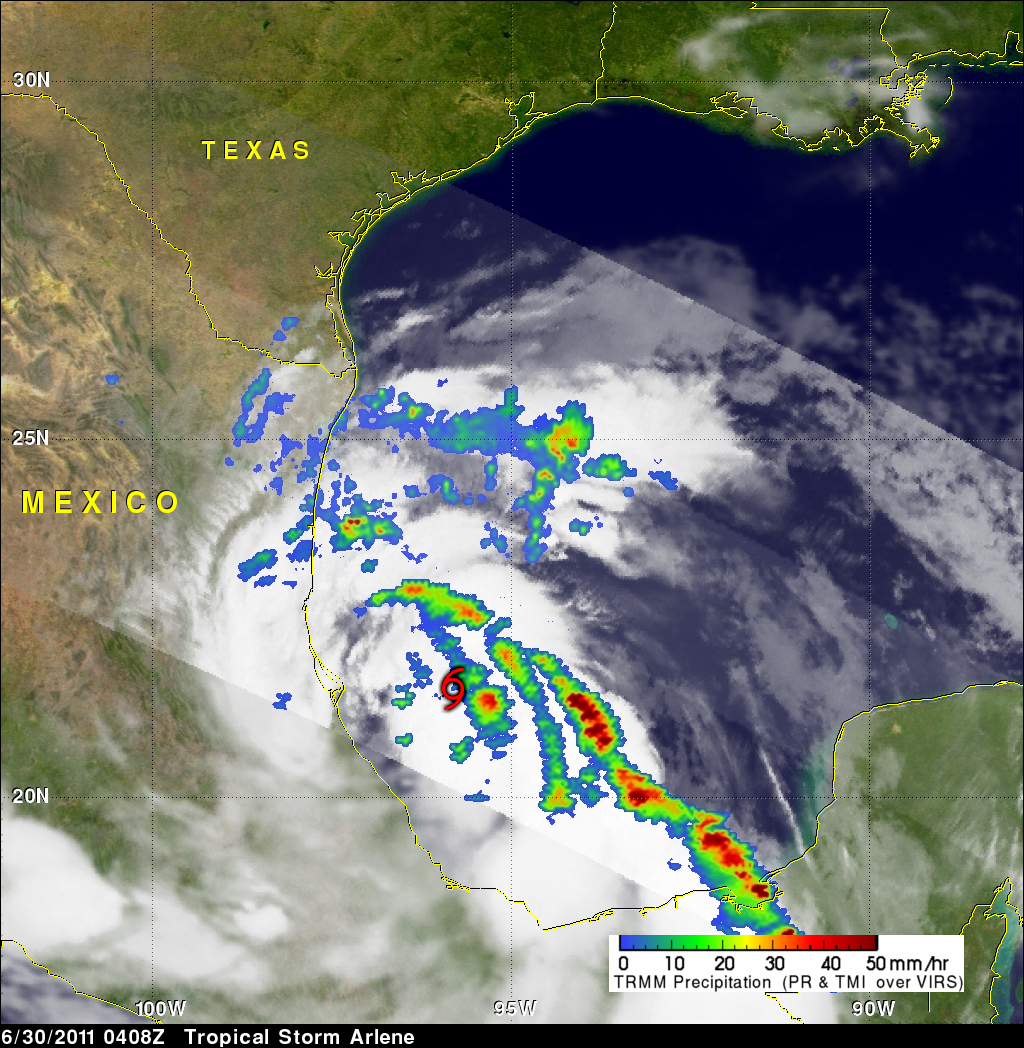 Nasa Hurricane Season 2011 Tropical Storm Arlene