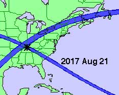 A map of the solar eclipse tracks for the years 2000-2025.