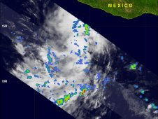Image of Tropical Depression 3E's rainfall was captured by NASA's TRMM satellite on July 7 at 0234 UTC.