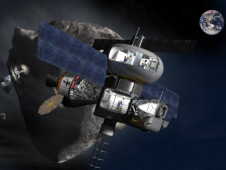Artist's concept of a near-Earth asteroid mission
