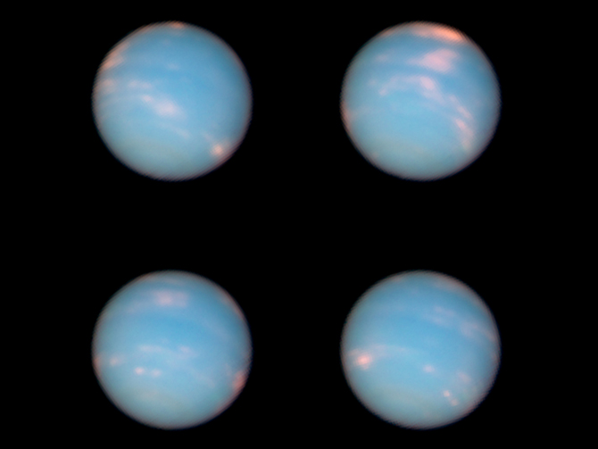 Hubble images of Neptune