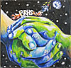 Earth depicted by two hands joined with the letters BRHS above
