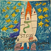 Child's drawing of a space shuttle with STS-135 on the vehicle