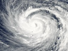 MODIS image showing Typhoon Ma-on on July 14 moving through the western North Pacific Ocean.