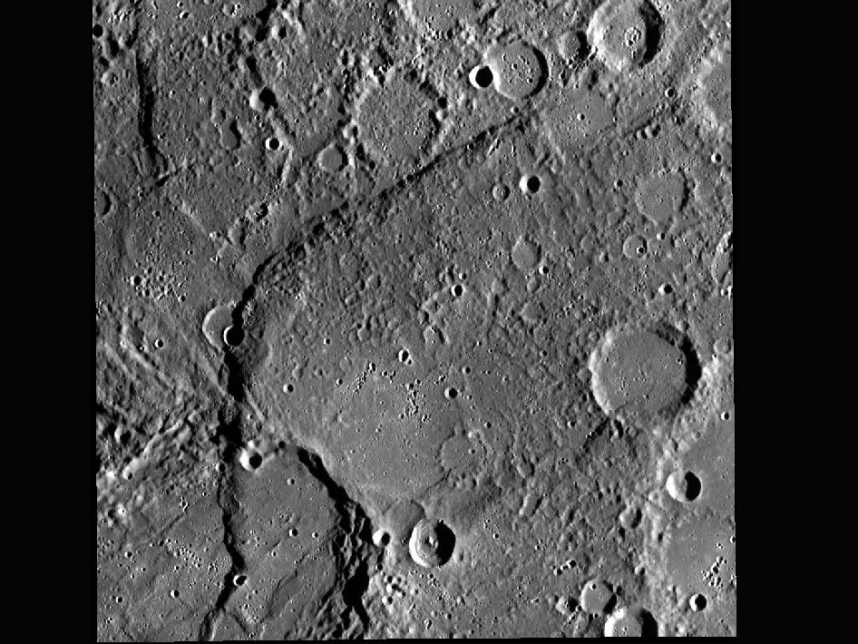 Image from Orbit of Mercury: Beagle Rupes