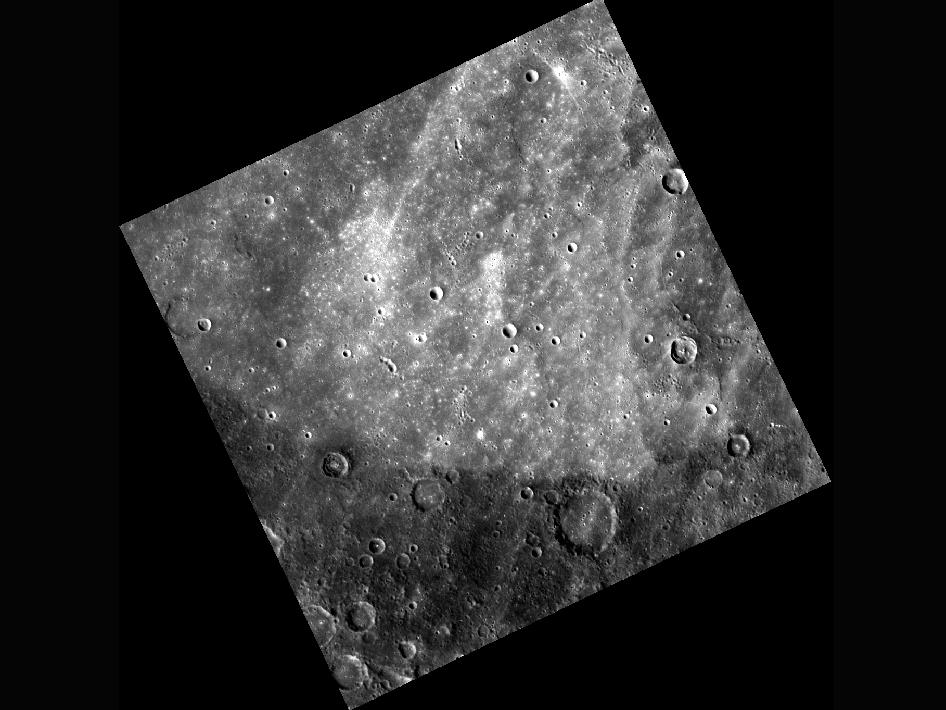Image from Orbit of Mercury: An Angular Albedo Arc