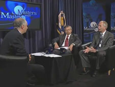 Masters with Masters 9 featured NASA Associate Administrator for Space Operations Bill Gerstenmaier and JAXA Executive Director for Human Space Systems and Utilization Kuniaki Shiraki at NASA Headquarters on July 11, 2011.