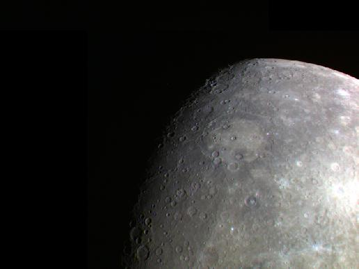Image from Orbit of Mercury: A Terminator and Limb Together
