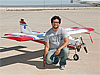 Victor Loera with an unmanned aerial vehicle