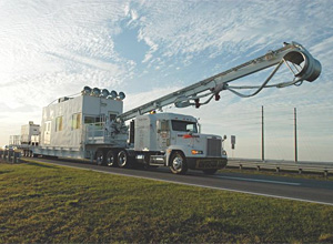 A Universal Coolant Transporter System arrives at KSC