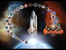 Space shuttle Columbia tribute
