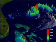 TRMM captured this image of rainfall happening within Tropical Stort on July 19.