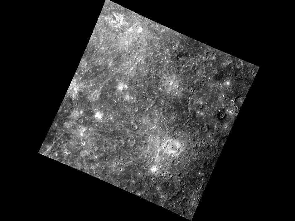 Image from Orbit of Mercury: A Multitude of Rays