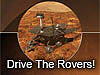 Picture of rover and words Drive the Rovers
