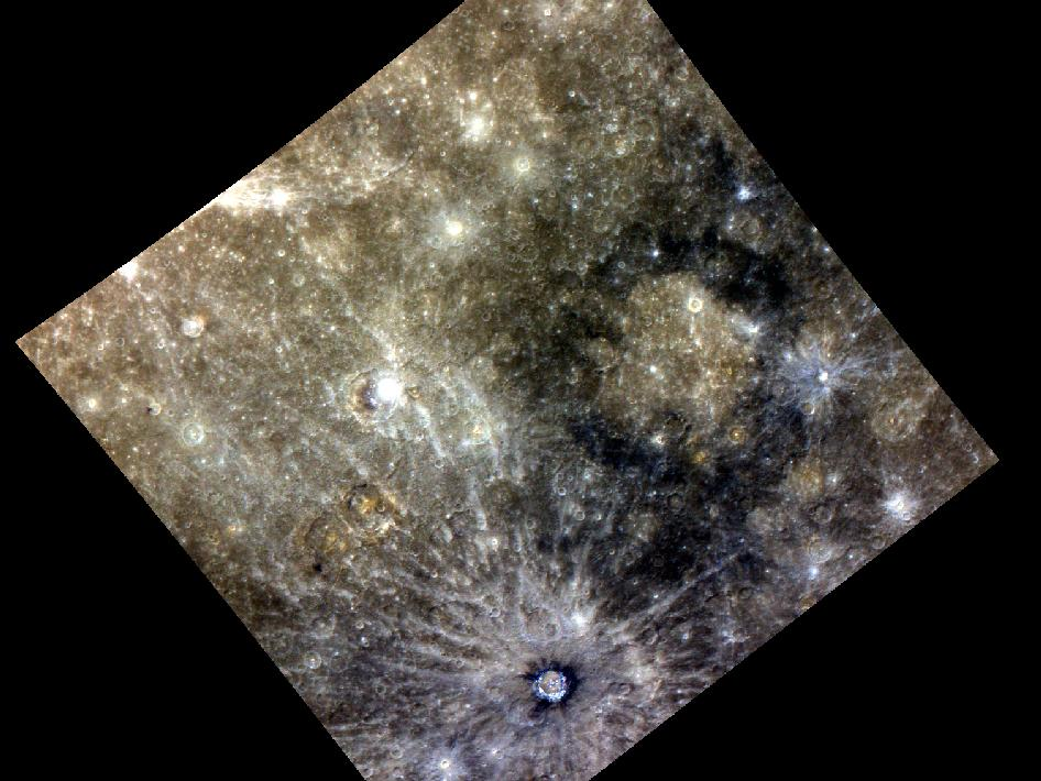 Image from Orbit of Mercury: Memories of Many Mixed Materials