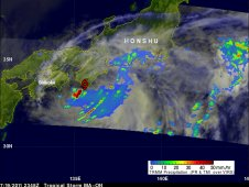 On July 19, Ma-on was dropping heavy rainfall over southern areas of the Japanese Island of Honshu.