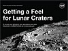 Cover of Getting a Feel for Lunar Craters