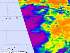 NASA's Aqua satellite passed over the eastern half of Tropical Depression 11W