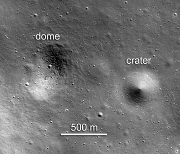 Subsampled NAC image showing a wider view of dome and surroundings