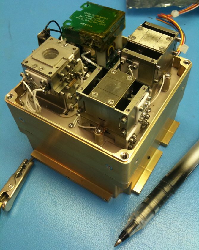 Close-up of the WINCS instrument, which is specially designed to fly on Cubesats.