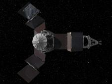 Still image from a Juno mission animation