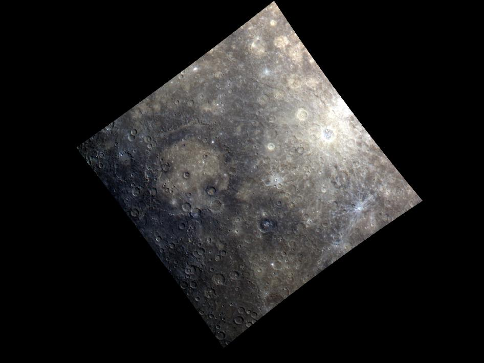 Image from Orbit of Mercury: Rembrandt Basin - in Color!