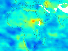 Current dry conditions illustrated in this map of Northeast Africa