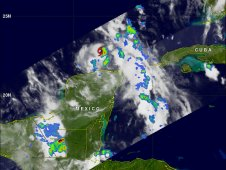 TRMM image of Tropical Storm Don on July 28, 2011 at 0609 UTC (1:09 a.m. CDT).