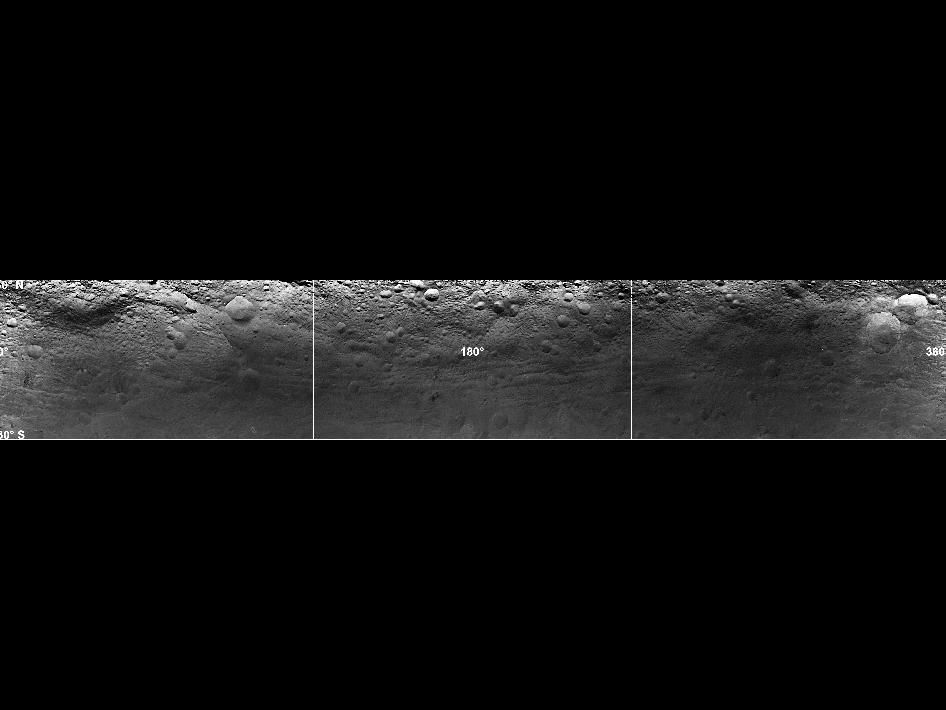 Mosaicimage of Vesta's surface