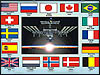 ISS and flags of countries participating