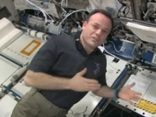 Astronaut Ron Garan giving a tour of the U.S. Lab aboard the International Space Station