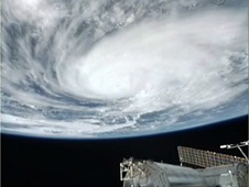 Hurricane Karl from the ISS, Sept. 18, 2010