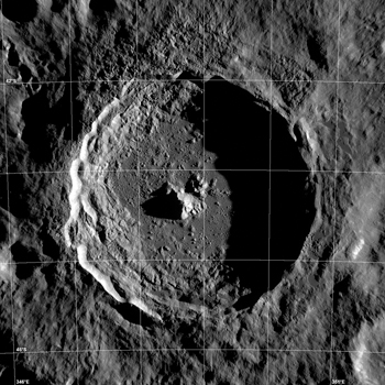 LROC WAC mosaic of Tycho crater