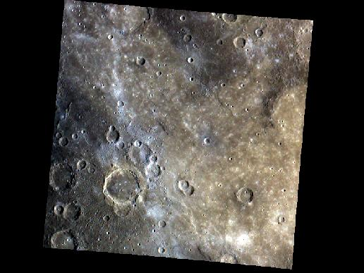 Image from Orbit of Mercury: Firdousi's Smooth Plains & Crater Chains