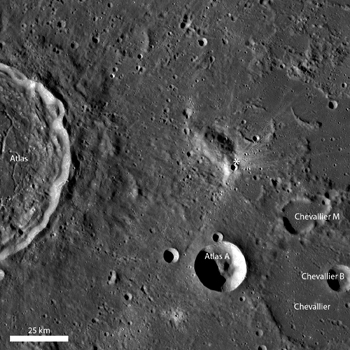 LROC WAC monochrome mosaic centered on the young impact crater