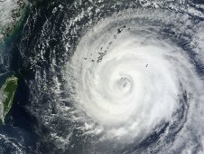 MODIS image of Typhoon Muifa taken on August 4 at 2:20 UTC.