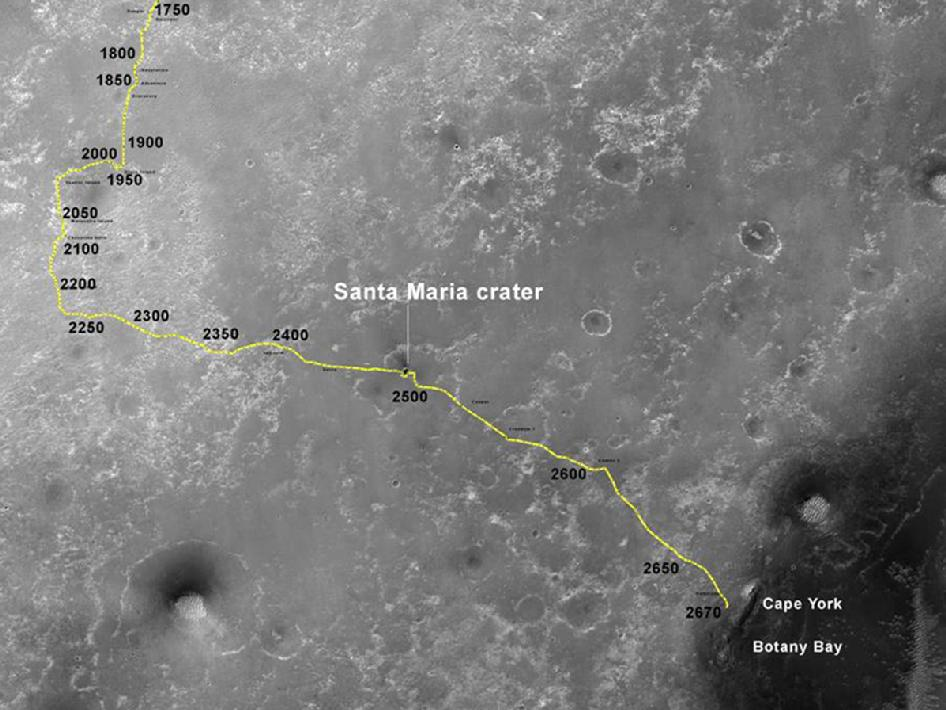opportunity rover map - photo #13